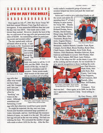 July 2001 Troop Talk - Volume 2, Issue 6
