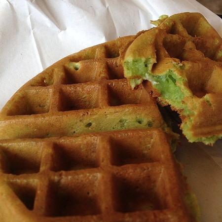 Pandan waffles at Nuoc Mia Vien Dong 2 in San Jose