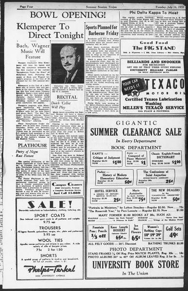 Summer Session Trojan, Vol. 14, No. 9, July 16, 1935