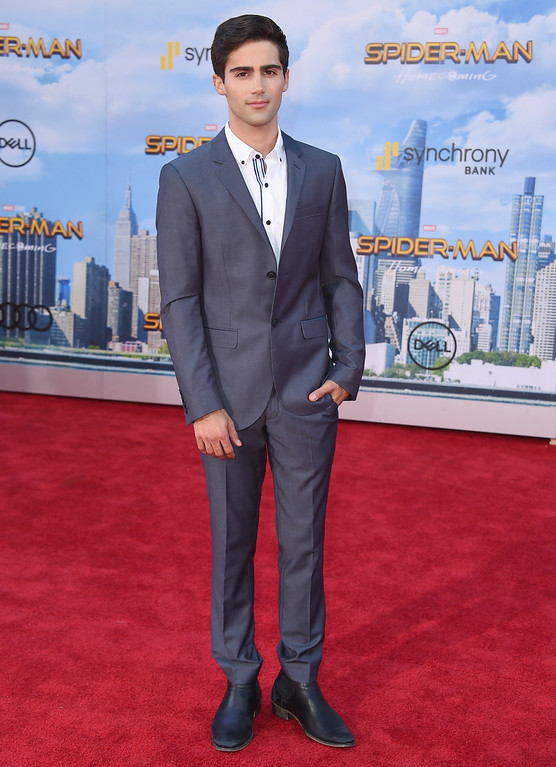 """. Max Ehrich arrives at the Los Angeles premiere of \""""Spider-Man: Homecoming\"""" at the TCL Chinese Theatre on Wednesday, June 28, 2017. (Photo by Jordan Strauss/Invision/AP)"""