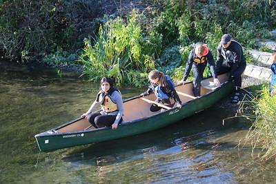 MS 8th Canoes on Little Spokane 10-2-19