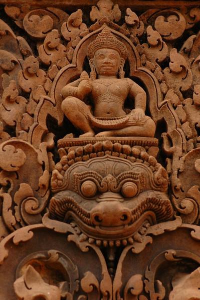 Detailed Engravings at Banteay Srei - Angkor, Cambodia