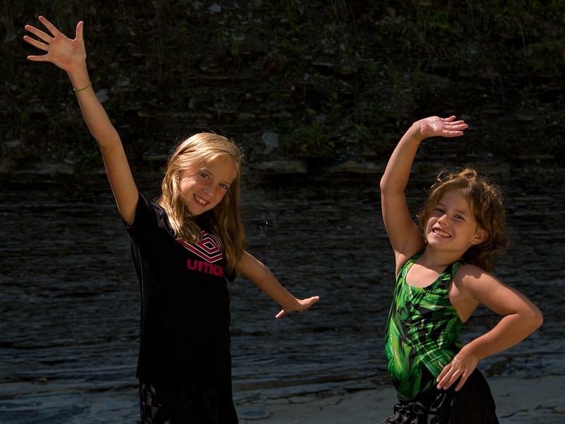 Abby and Lilly @ Wintergreen Gorge