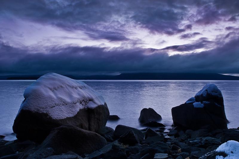 Moody Auke Bay shot, when light turns blue.