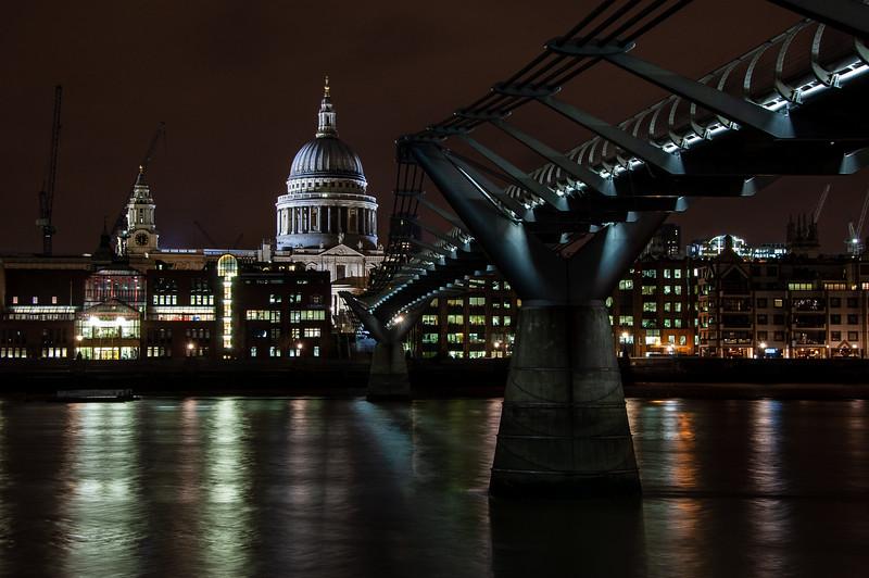 St Paul's Cathedral and Millennium Bridge