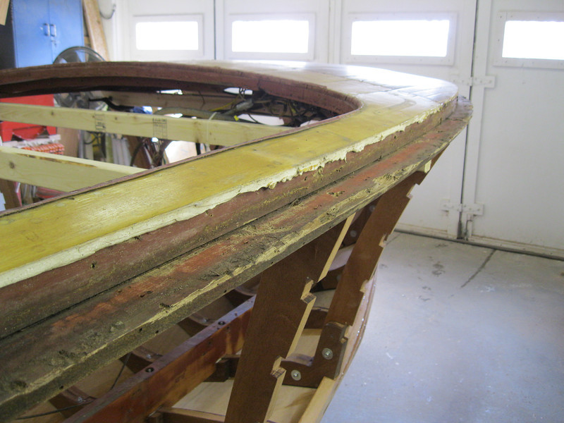 Another view of bad starboard shear plate.