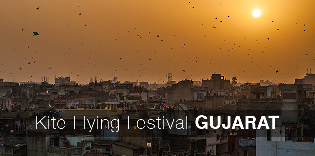 Makar Sankranti - Kite flying festival Gujarat