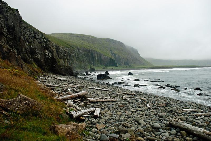 Horft til baka inn Hornvík.