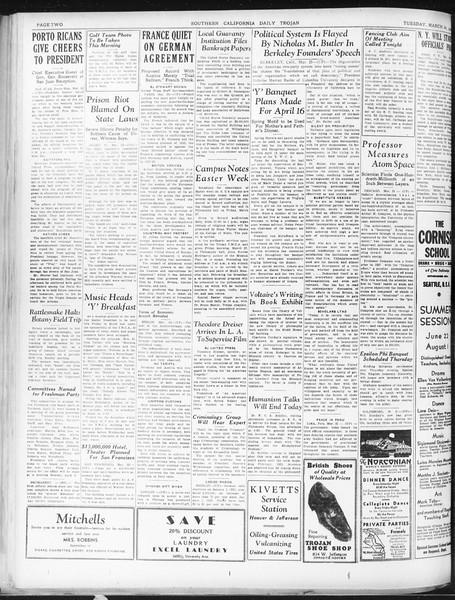 Daily Trojan, Vol. 22, No. 113, March 24, 1931