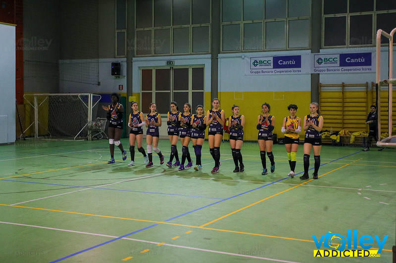 VIRTUS CERMENATE 3 - UNION VOLLEY MARIANO 0 Serie D Femminile 2019/20 Lombardia - 15^ Giornata Cermenate (CO) - 15 febbraio 2020