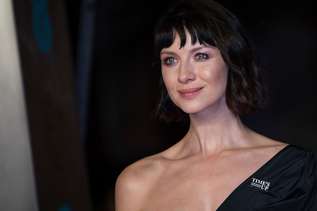 . Caitriona Balfe poses for photographers upon arrival at the BAFTA Awards 2018 in London, Sunday, Feb. 18, 2018. (Photo by Vianney Le Caer/Invision/AP)