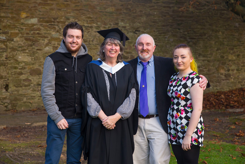 01/11/2017. Waterford Institute of Technology Conferring. Pictured is Helen Ward from Carlow with her family Chris, John and Rachel. Picture: Patrick Browne