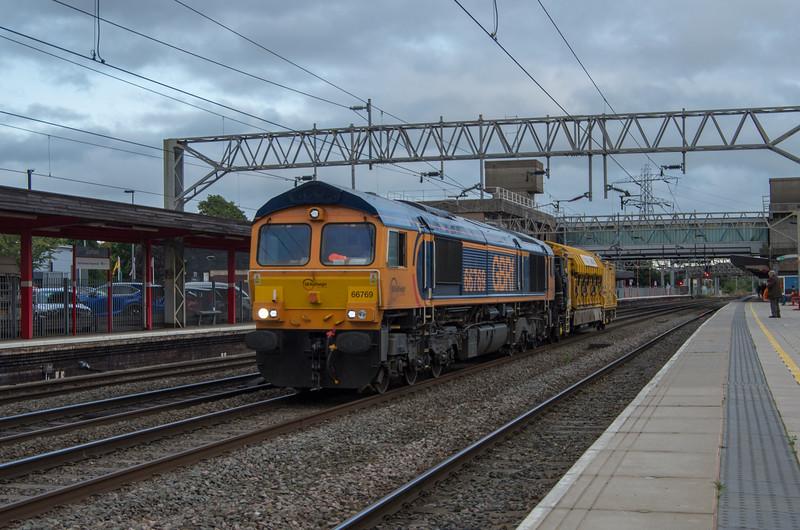 GBRf class 66 and railvac at Staffford
