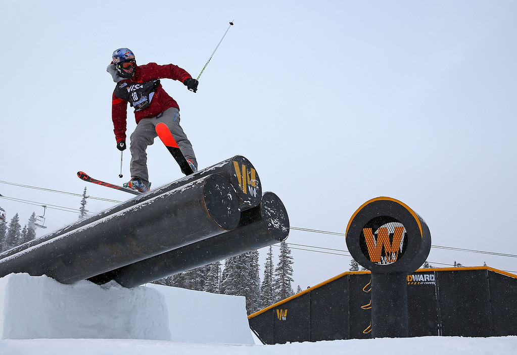 . Russel Henshaw of Australia competes during finals for the mens FIS Ski  Slopestyle World Cup at U.S. Snowboarding and Freeskiing Grand Prix on December 21, 2013 in Copper Mountain, Colorado.  (Photo by Mike Ehrmann/Getty Images)
