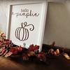 hello pumpkin on canvas