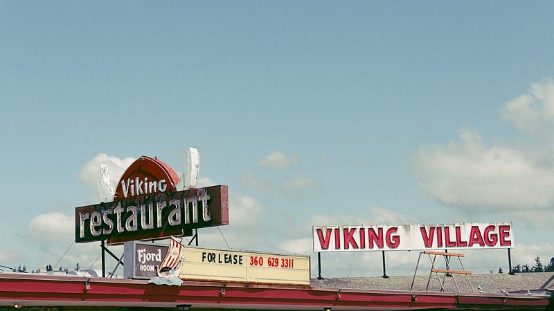 Viking Restaurant Sign IV