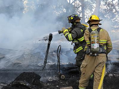 Branch TX. Mutual Aid Garage fire. CR 864 9/21/17