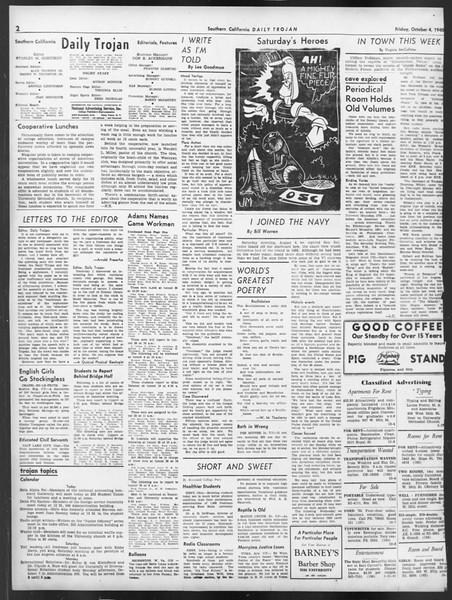 Daily Trojan, Vol. 32, No. 16, October 04, 1940