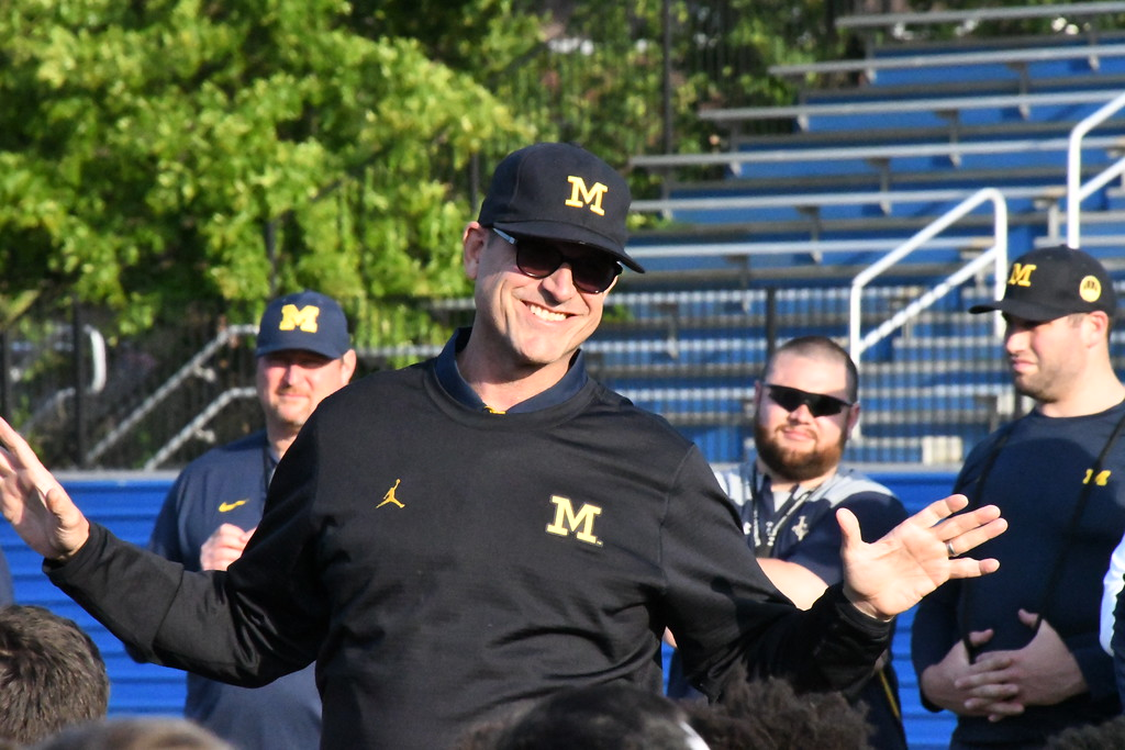 """. Brittany Chay - The News-Herald John Carroll\'s hosted a Michigan satellite campe dubbed \""""Light Up The End\"""" on Jun 2 at Don Shula Stadium."""