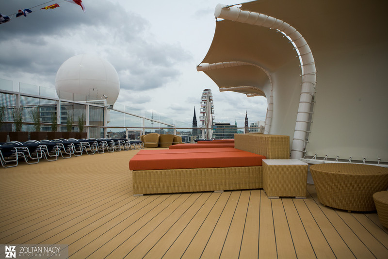 Resting area on Solstice deck
