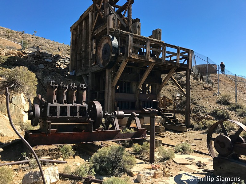 Stamp mill at Lost Horse mine