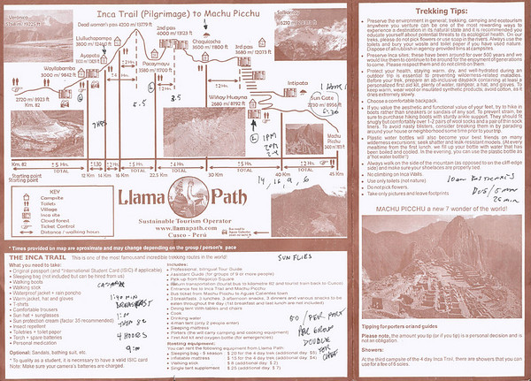 Inca Trail Journal