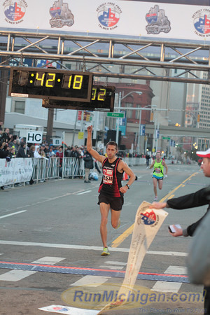 International Half Marathon Finish, Gallery 1 - 2012 Detroit Free Press Marathon