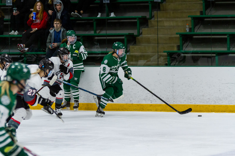 Holy Family's Maeve Kelly '22 (8) vs. Eden Prairie at Braemar Arena - Collin Nawrocki/The Phoenix