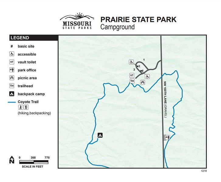 Prairie State Park (Campground Map)