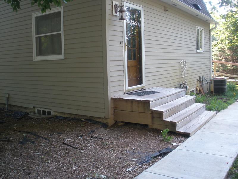 Doorway before new ramp.