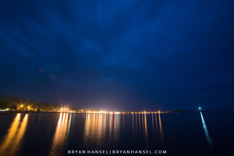 Grand Marais Blue Hour Lights