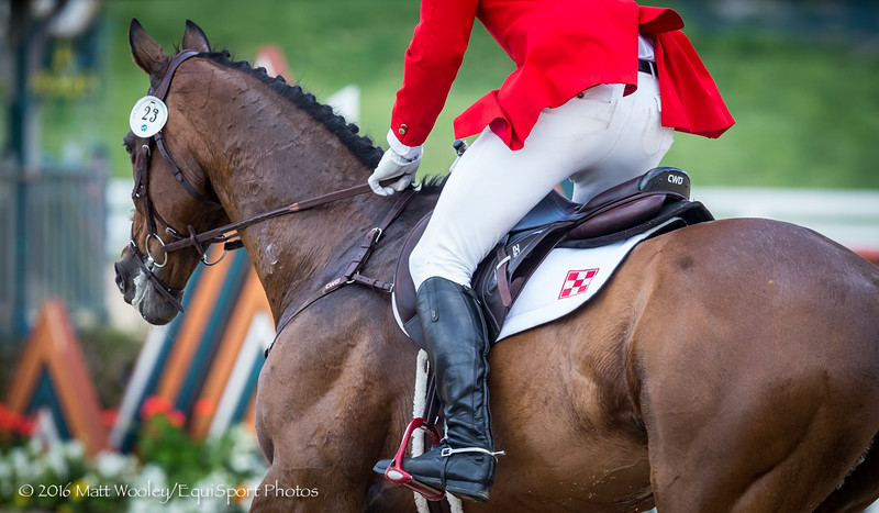 Kyle Carter and Madison Park in the Stadium Jumping portion of the Rolex 3-Day Event at the Ky. Horse Park 5.01.16.