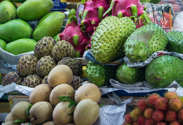 Assortment of tropical fruit