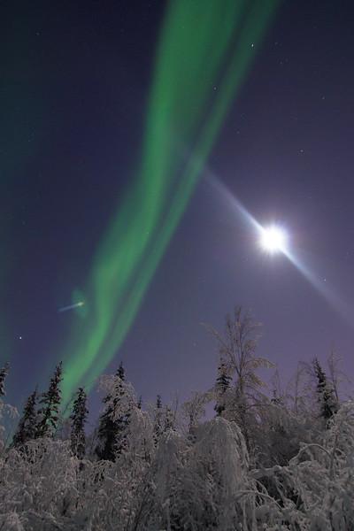 Moon vs Aurora