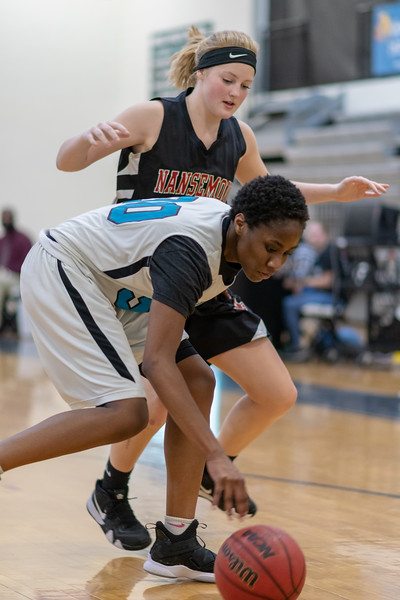 2019-02-12 Nansemond River vs Hickory Girls Varsity Basketball