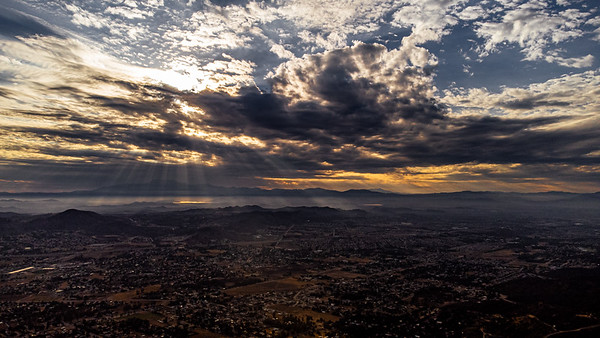 Over Temecula Valley and Lake Elsinore