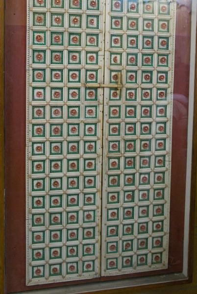 An ivory door.