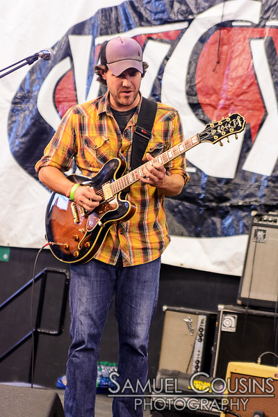 Jason Spooner playing for the Maine Brewers Festival.