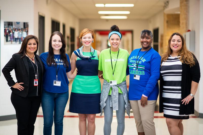 Marcy Davis. (left), Kaela Mathis, Dr. Bethanie Pletcher, Maddie Woods, Audrey Barnes, and Roana Rivera.