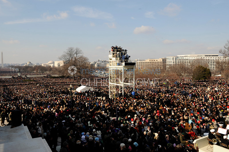 View of the crowd at President Barack Obamas first Inauguration.