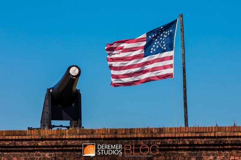 2019 Fort Clinch Flag 003A - Deremer Studios LLC
