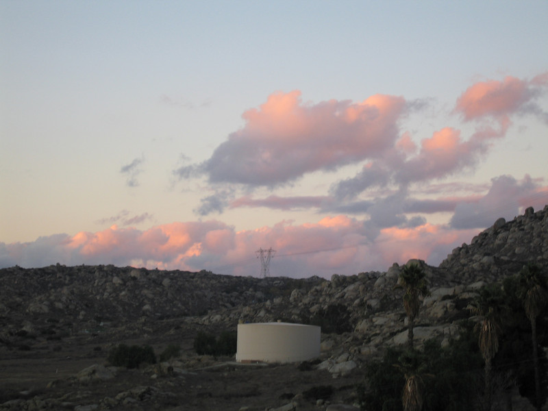 Sunset, 1 Dec 2007