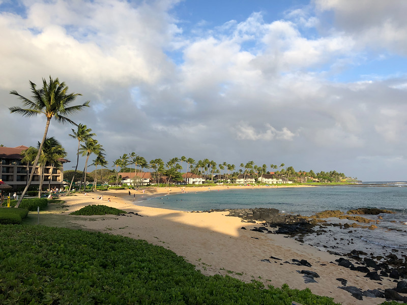 Early morning in Poipu Beach, just after sunrise