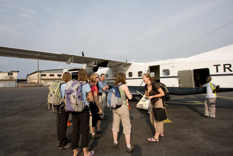 At Libreville airport.