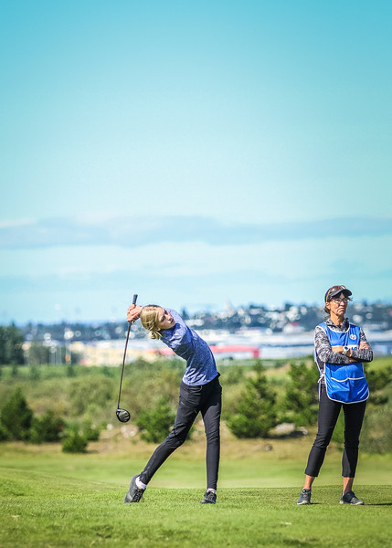 GR, Auður Sigmundsdóttir.  Íslandsmót í golfi 2019 - Grafarholt 2. keppnisdagur Mynd: seth@golf.is