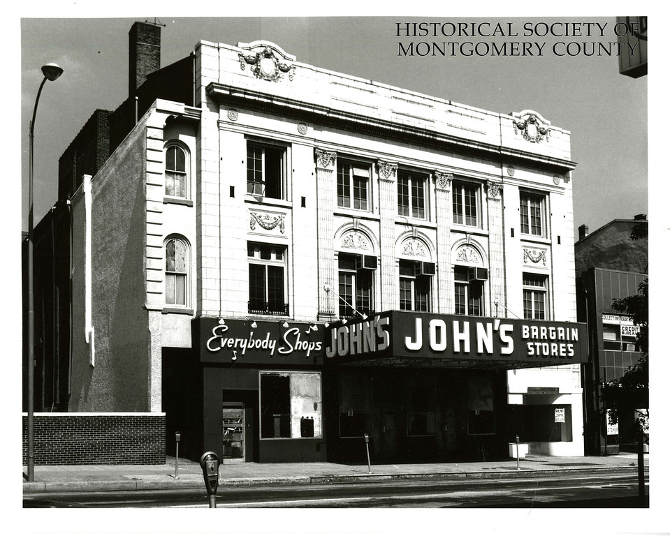 . This undated photo from the Historical Society of Montgomery County shows John\'s Bargain Store in Norristown. The building was demolished for the parking garage for the Montgomery County Courthouse.