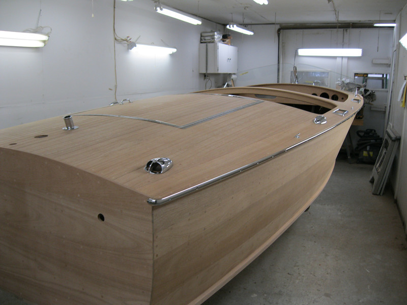 Starboard rear view of hardware installed.