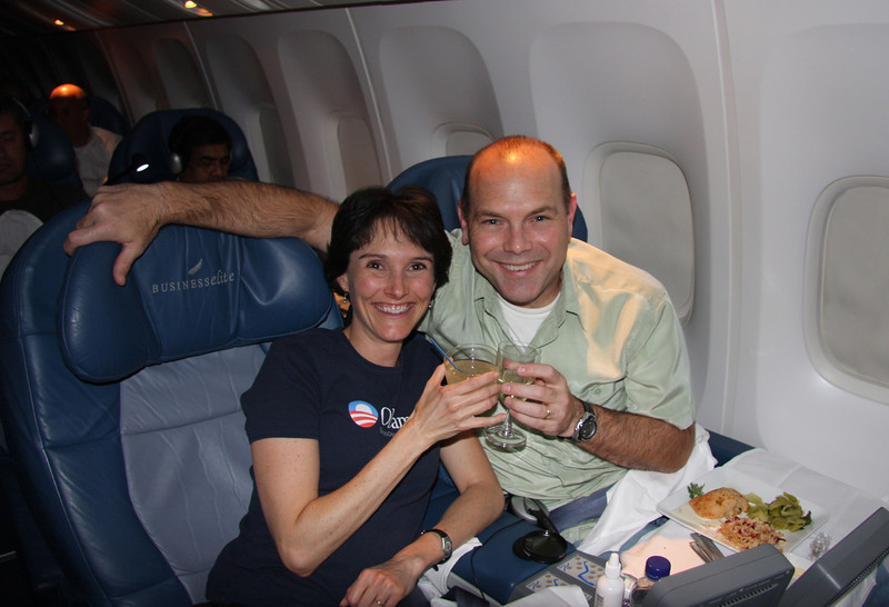 Delta flight from London to JFK. Toasting to a magical trip and memories for a lifetime!!