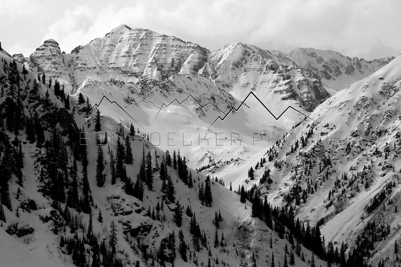Castle Peak in the Elk Range, CO.