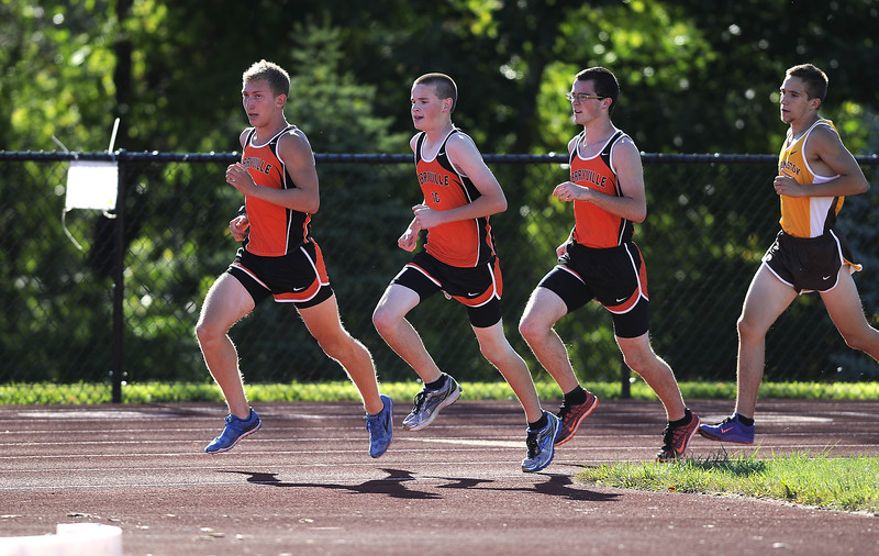 9/15/2015 Mike Orazzi | Staff Members of the Terryville Cross Country team during Tuesday's meet at THS.